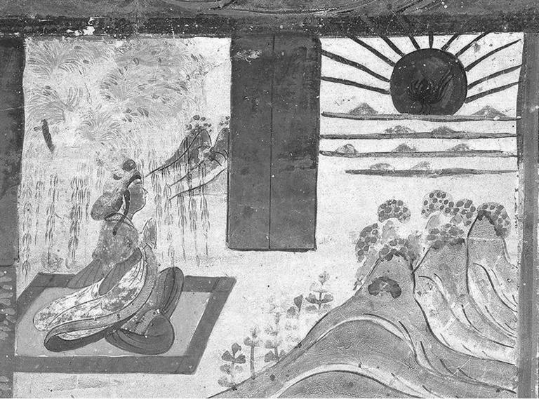 敦煌莫高窟壁画 望日 (盛唐)