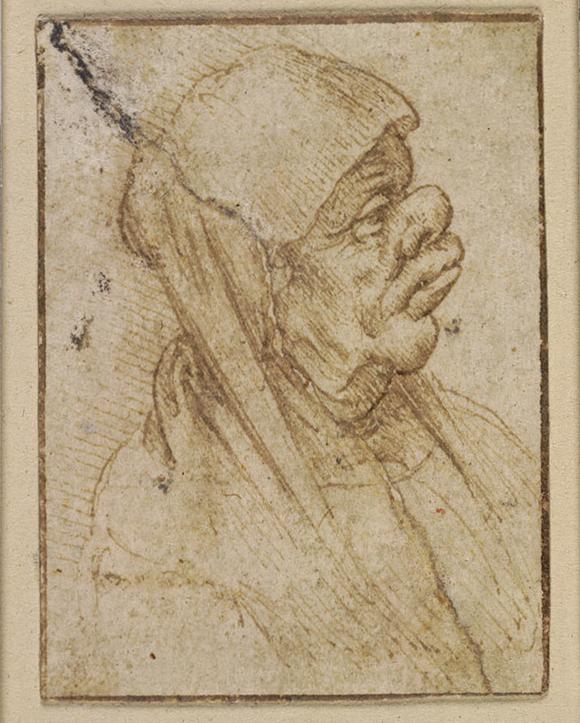 列奥纳多·达·芬奇(1452—1519)《老年女子漫画像》 1482至1499年