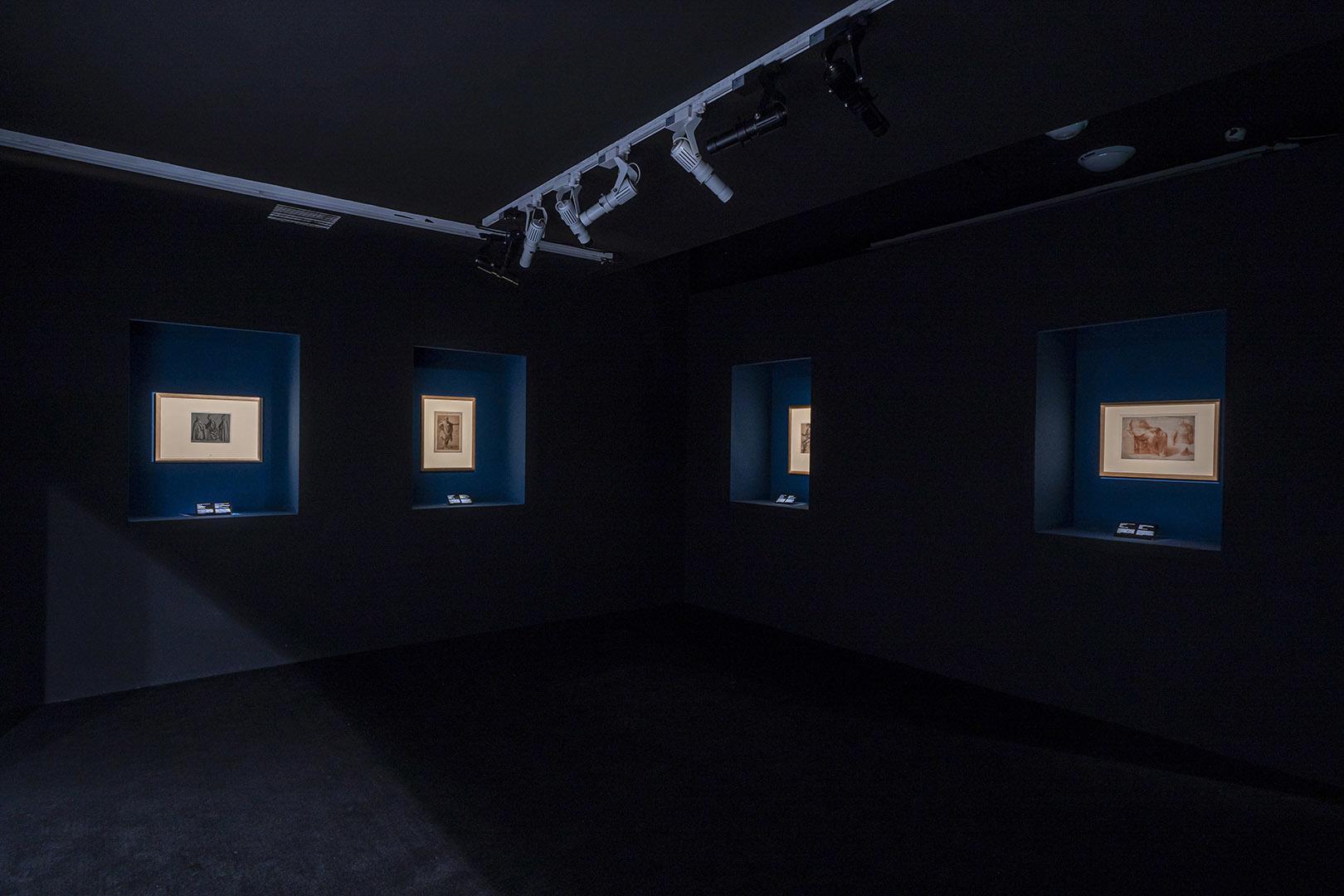 """""""意大利文艺复兴纸上绘画:一次与中国的对话""""展览现场"""