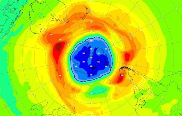 南极臭氧空洞异常增大 面积已超南极洲