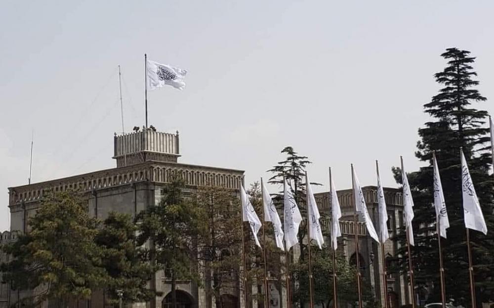 塔利班9月11日举行升旗仪式:新政府正式开始运作