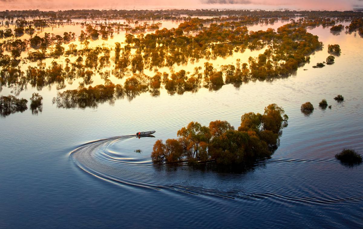 乌苏里江湿地如诗如画