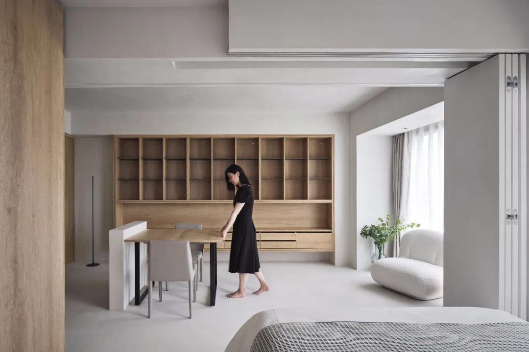 40㎡ 一居室,開放式客餐廳+獨立衛浴,設計太巧妙了!