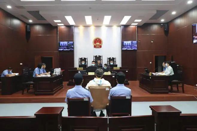 庭审现场。淮北市中院供图