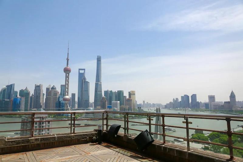 从上海大厦看出去的外滩风景