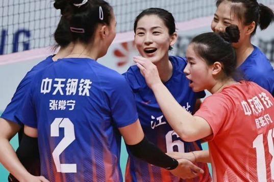 率先晋级决赛!江苏女排3-1上海:张常宁力争卫冕 蔡斌露短板