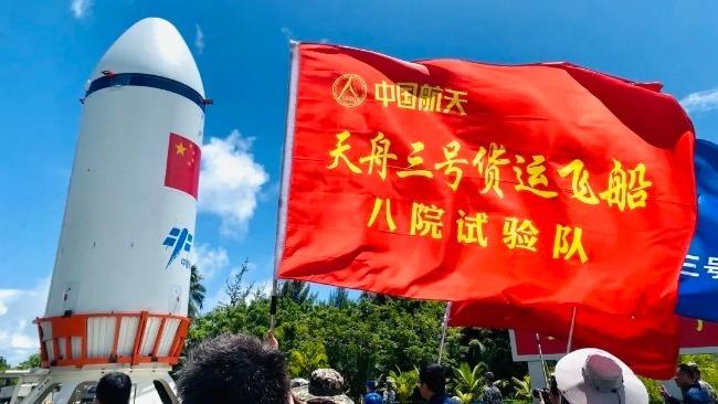 """天舟三號成功發射 中國空間站現有兩位""""太空快遞小哥"""""""