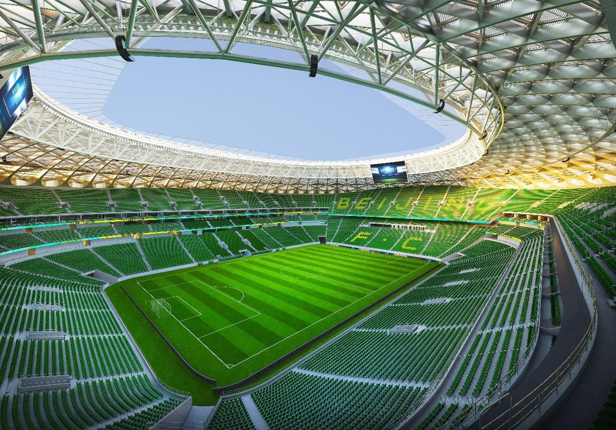 揭秘工人体育场复建过程 全绿色内场效果图曝光