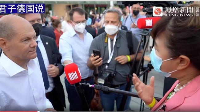 德国大选最后阶段社民党领跑民调 候选人朔尔茨谈对华政策 君子德国说