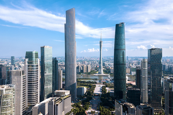 高楼林立的广州城区。图|图虫创意