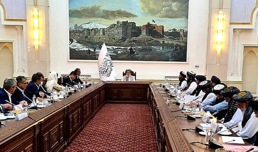 谭德塞在喀布尔会见阿富汗临时政府代理总理