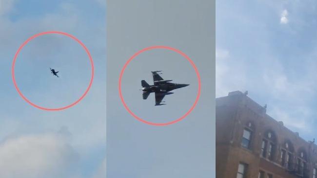 现场:一架飞机闯入联合国大会禁飞区 美战机紧急升空拦截