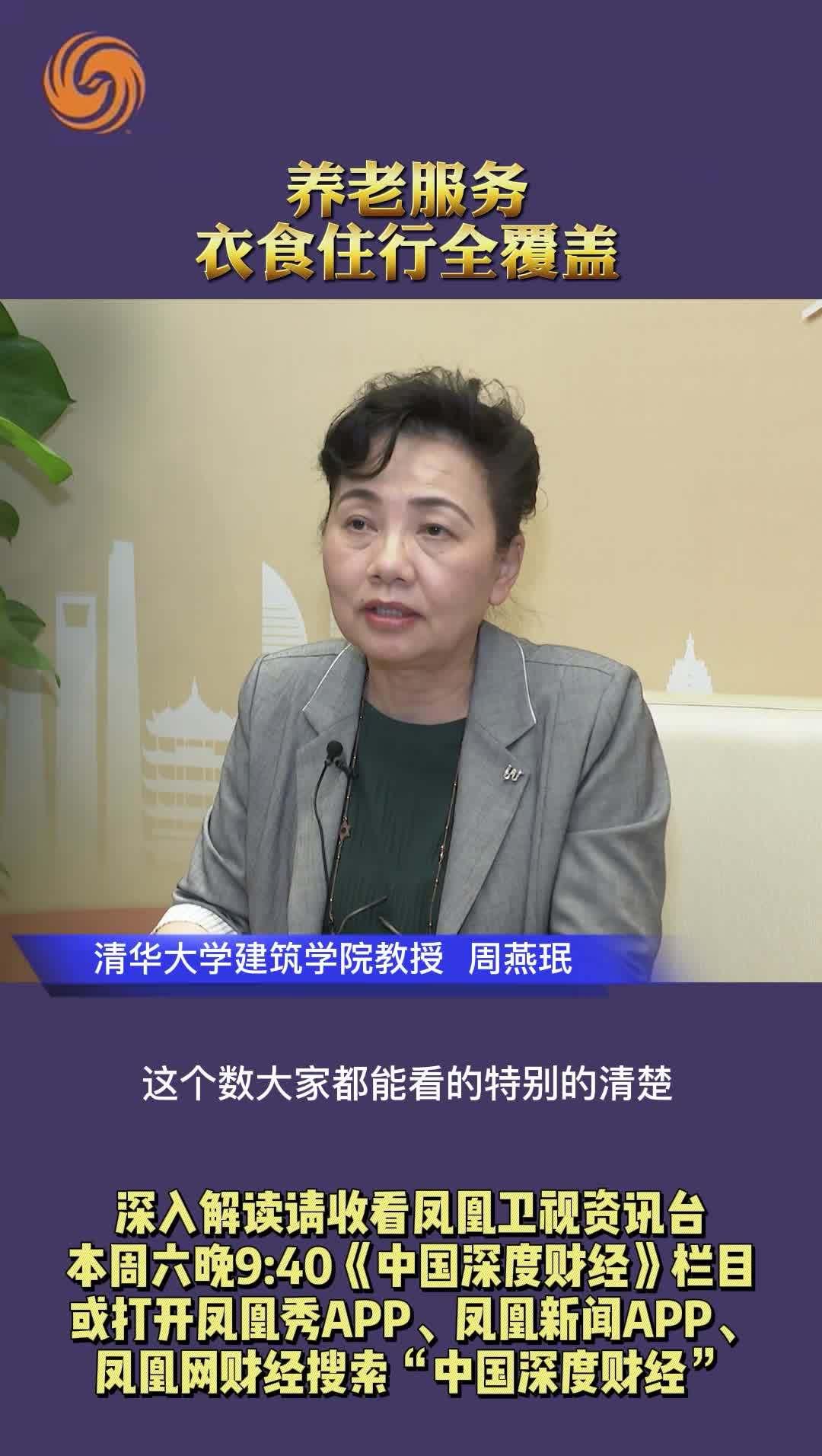 清华大学建筑学院教授周燕珉:养老服务要衣食住行全覆盖