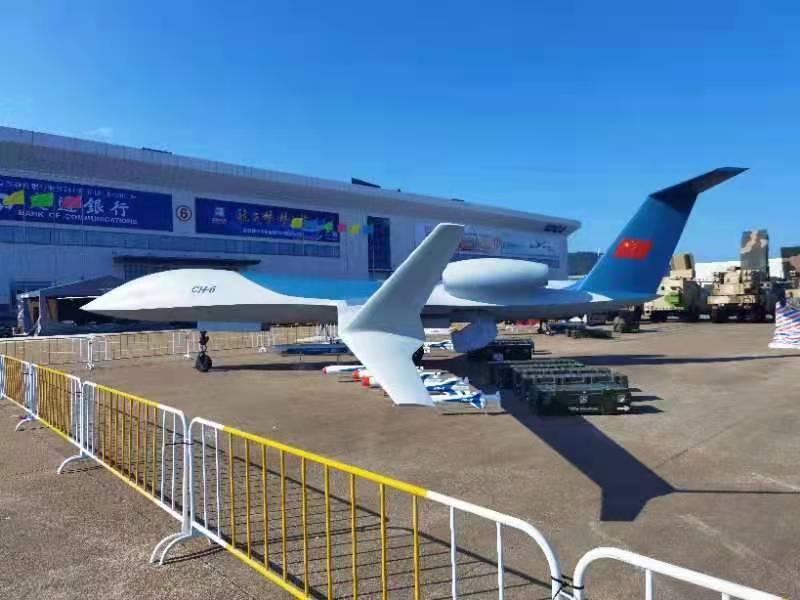 直击中国航展:彩虹-6等最新大型无人机系统亮相