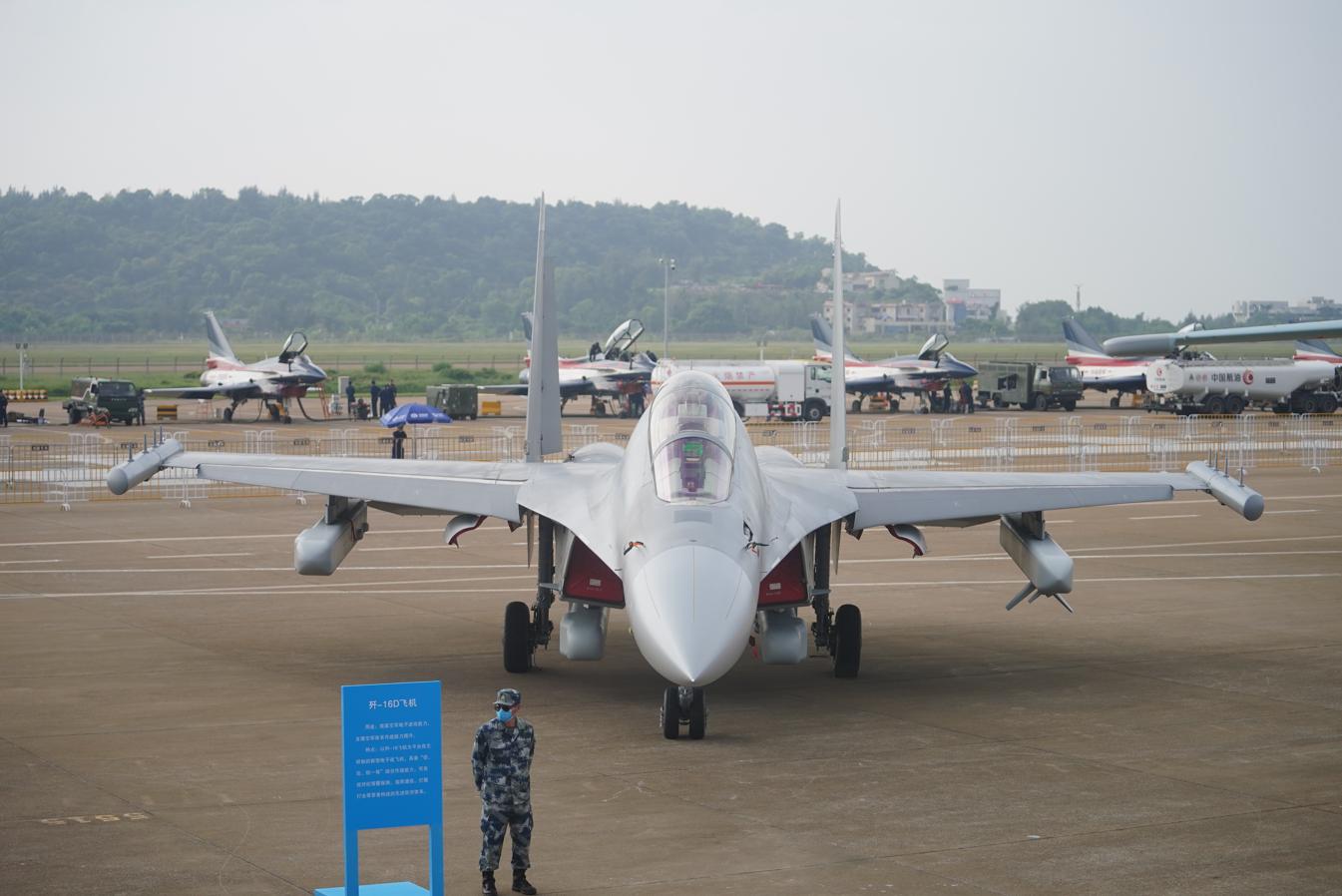 歼-16D电子战机