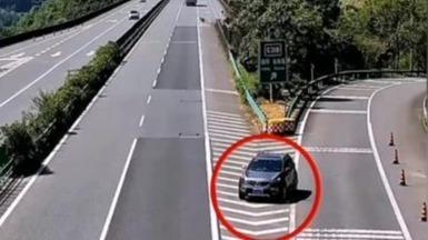 高速上逆行500米 男子急去医院走错匝道