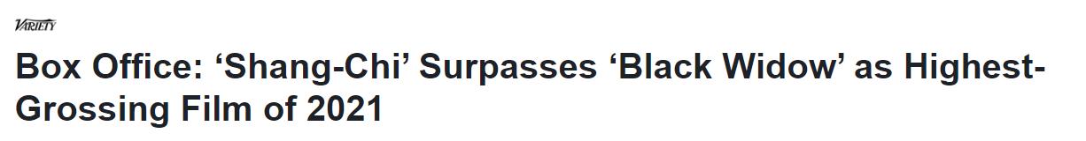 超越《黑寡妇》!《尚气与十环传奇》成疫情期间北美票房最高电影