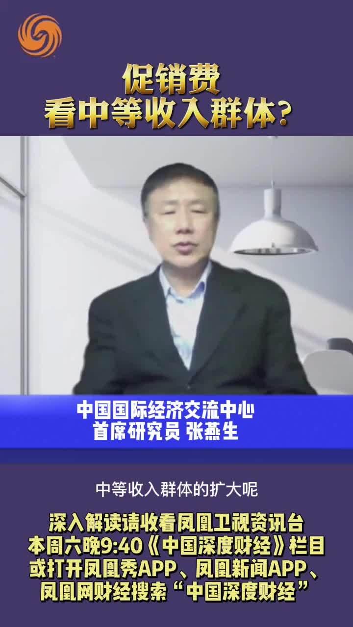 张燕生:促销费 看中等收入群体?