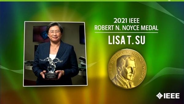 AMD CEO苏姿丰荣膺罗伯特·N·诺伊斯奖:史上第一位女性