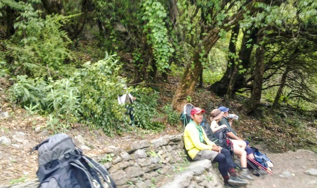 ABC上供徒步者休息的石头台阶