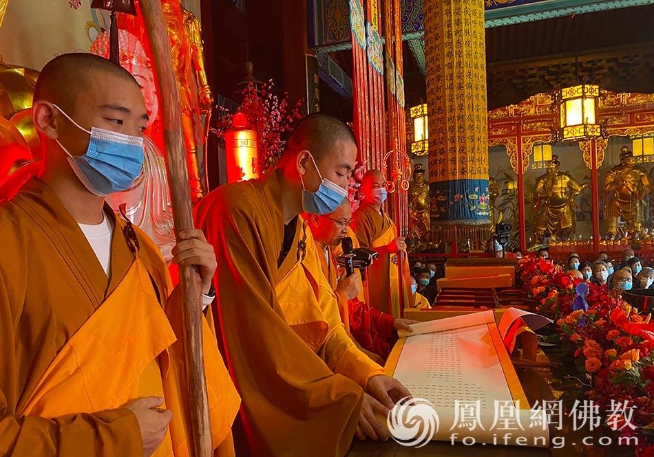 传法卷(图片来源:凤凰网佛教 摄影:药王古寺)