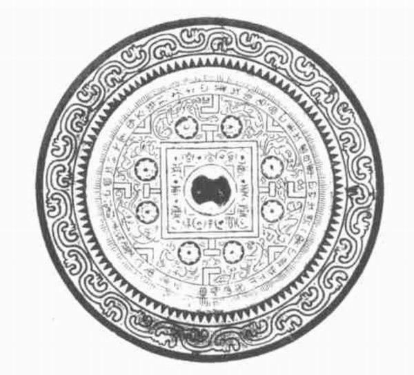 图六 河南洛阳出土西汉五灵博局纹铜镜