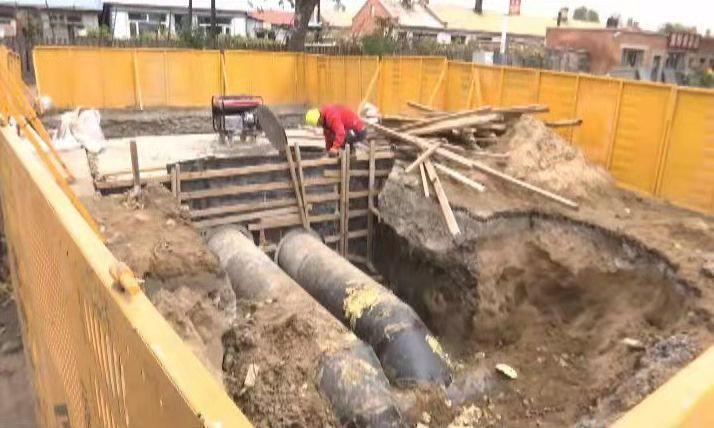 二次供水改造项目建设现场