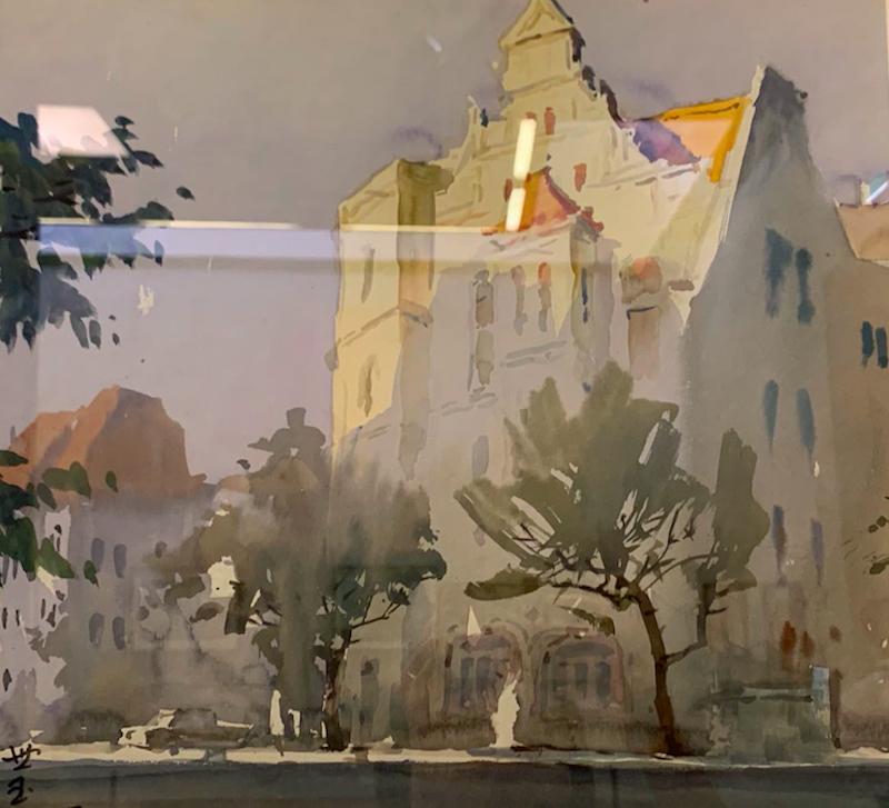 呈现青岛独特风物的水彩画作品