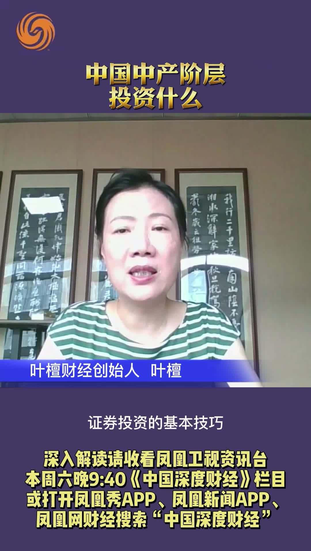 叶檀:中国中产阶级投资什么?