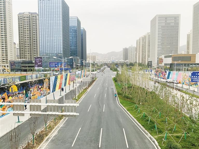 项目片区新建的道路