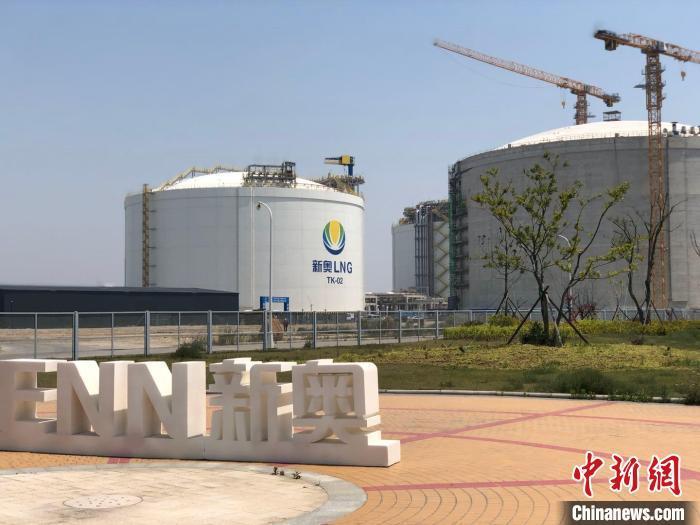 新奥LNG一景。 林波 摄