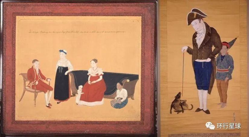 长崎画家川原慶賀描绘旅日荷兰人的绘画中,有爪哇女佣(左图)或巴厘岛奴仆(右图)等人物。 图:wikiwand