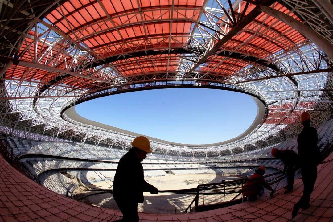 """被称为""""太原鸟巢""""的山西体育中心是第二届全国青年运动会的开幕场地。/ 图虫创意"""