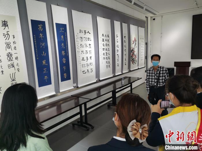 纪念辛亥革命110周年70多位华人书画家作品抵穗展出