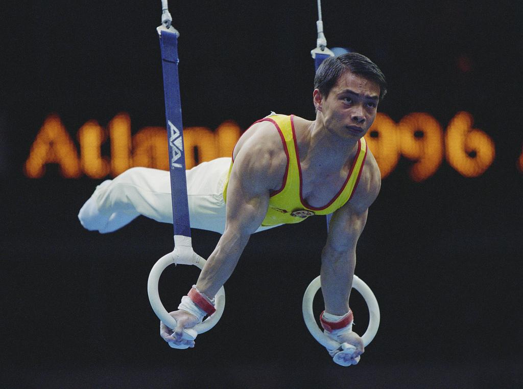 1996亚特兰大奥运会:体操男子全能,李小双金牌