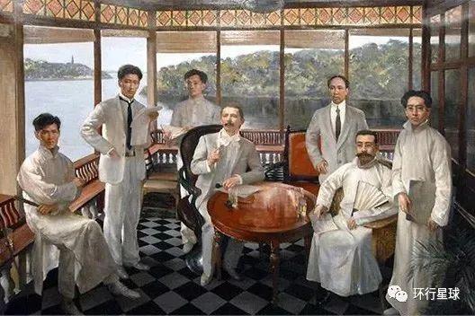 1922年西湖会议,左四为马林。