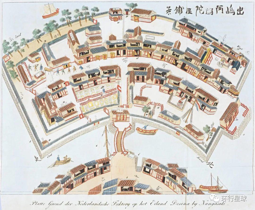 出岛 图:Wikipedia@Isaac Titsingh