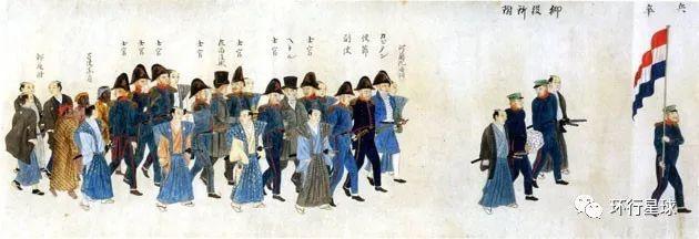 荷兰人在日本的江户参府。 图:Harmenliemburg.nl