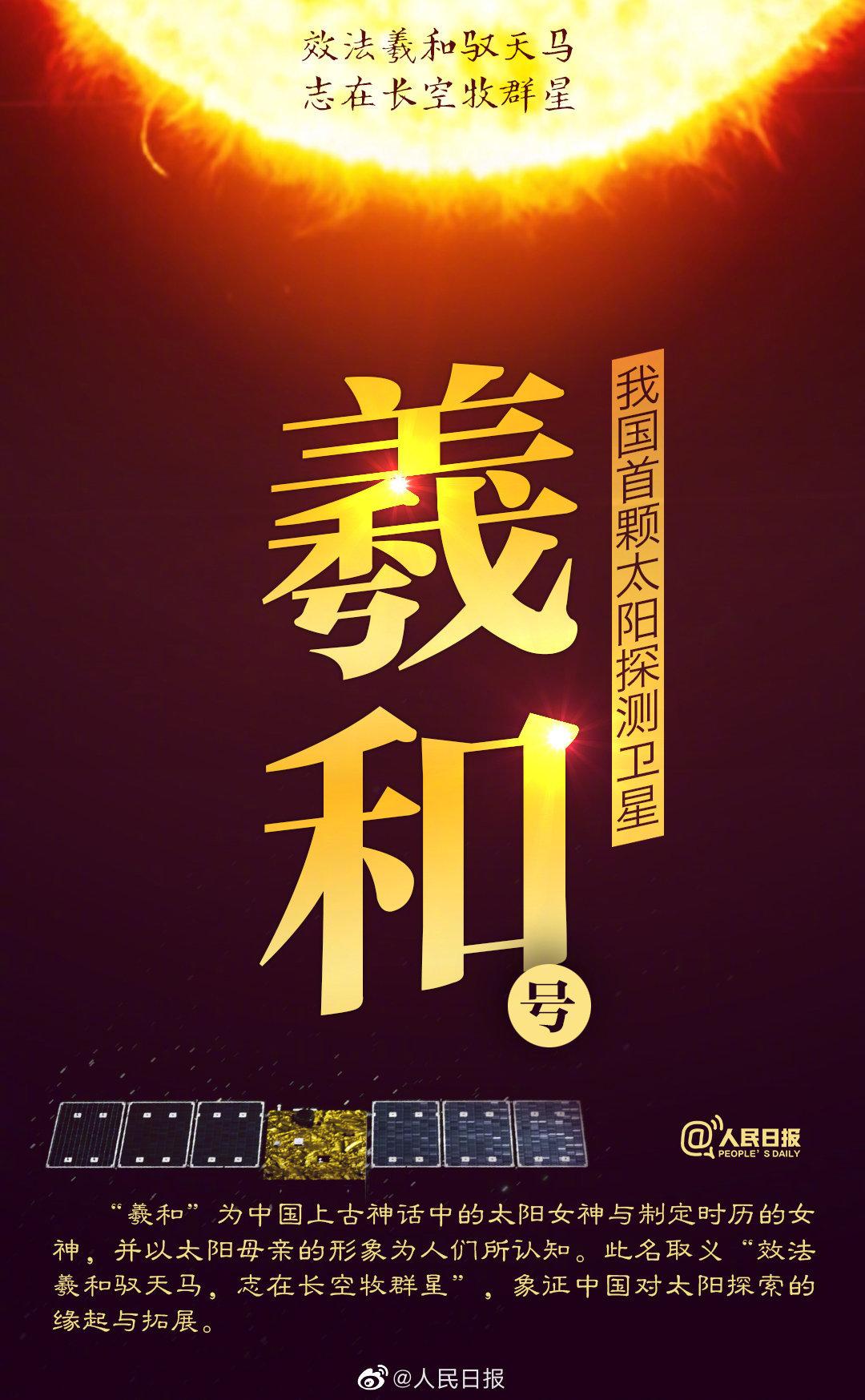 """""""羲和""""探日!中国首颗太阳探测卫星发射成功"""