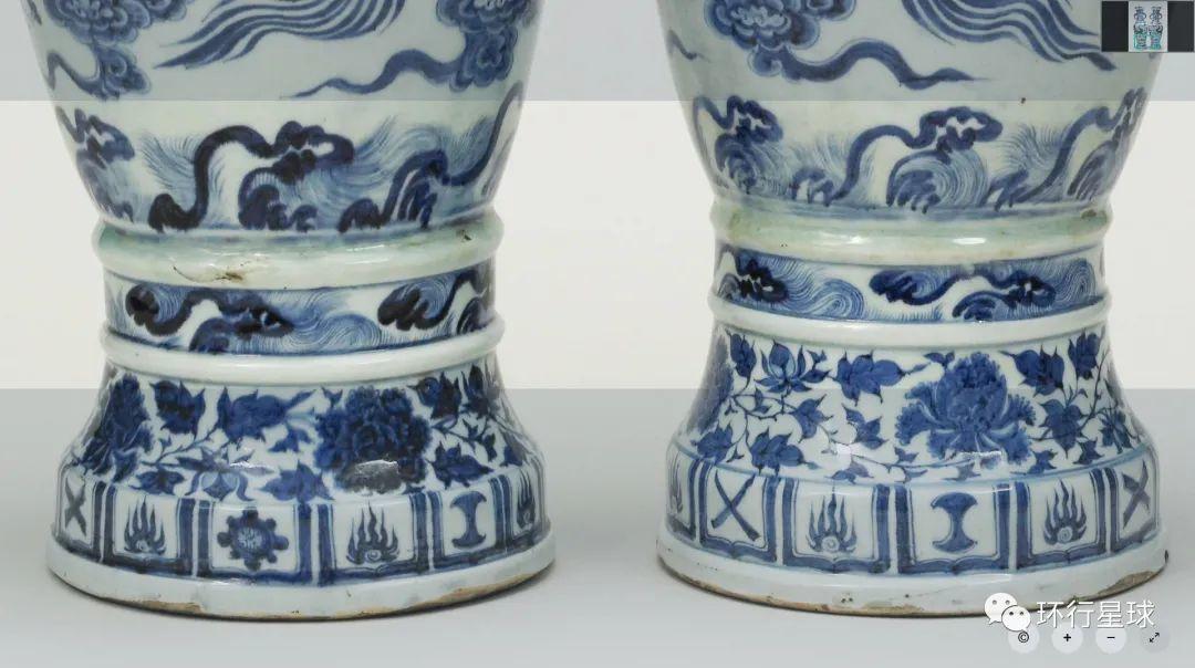 大维德瓶瓶身下层的海涛纹细部。 图:© The Trustees of the British Museum