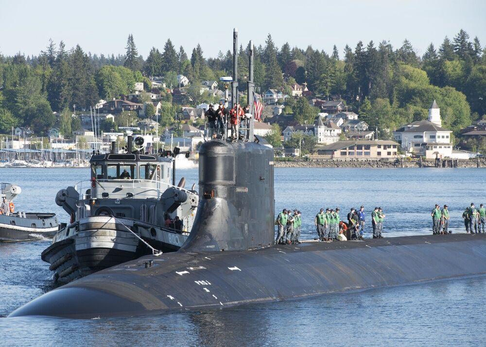 """美军""""康涅狄格""""号核潜艇2018年返回母港 资料图"""