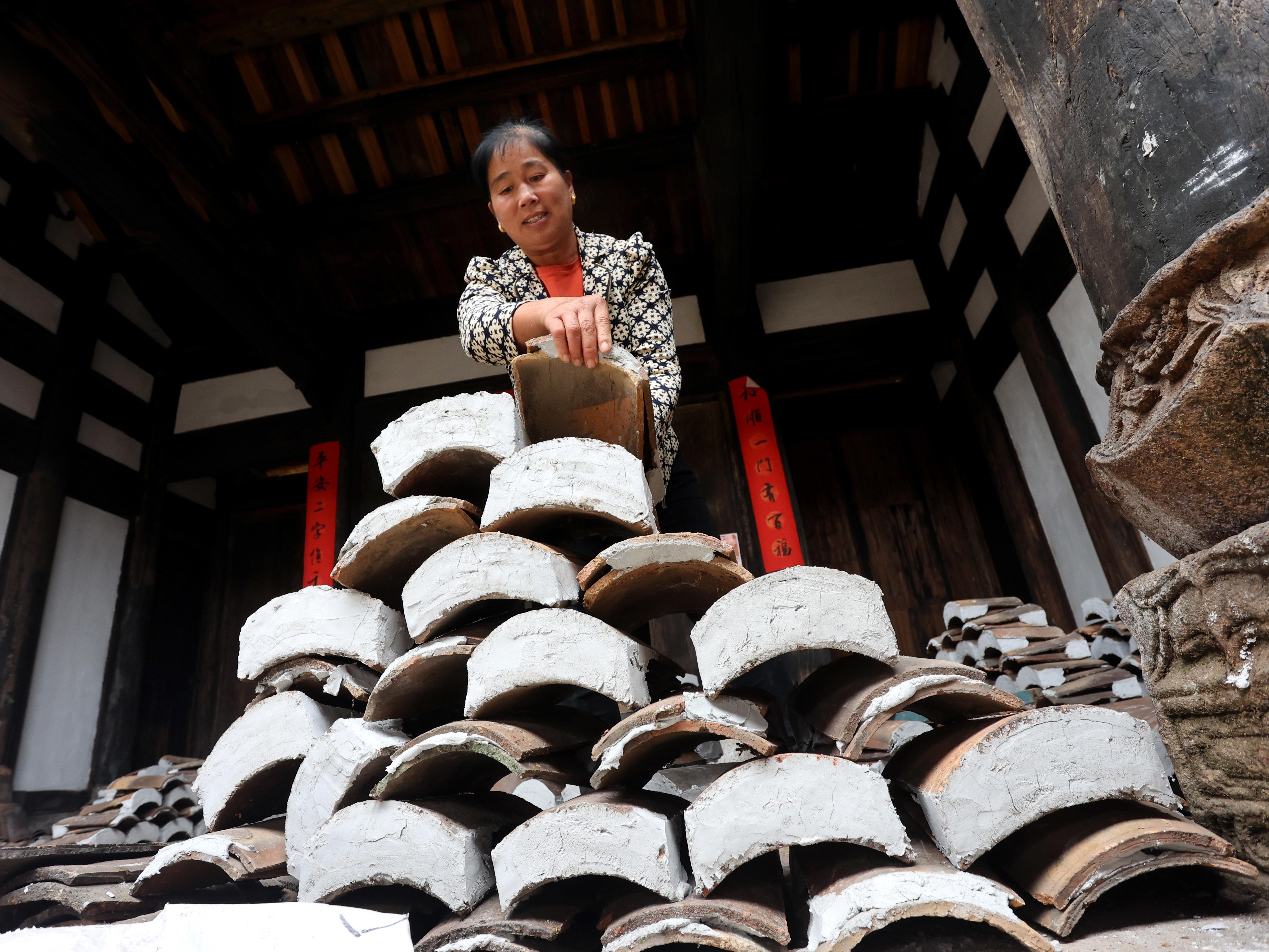 江西东乡:修旧如旧 保护古村