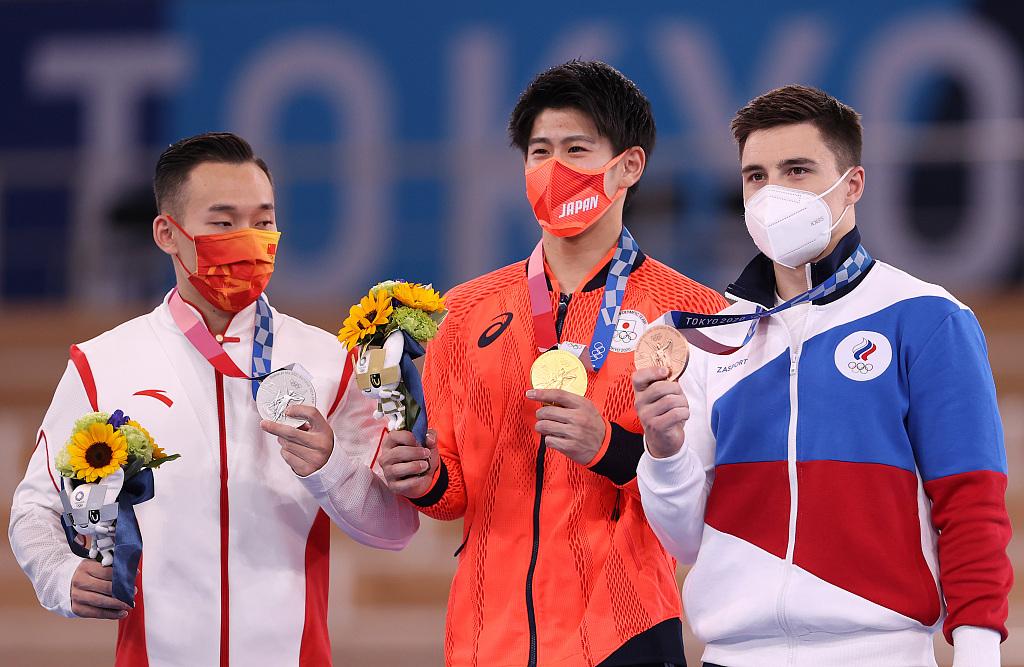 2020东京奥运会体操男子全能决赛:肖若腾遗憾摘银