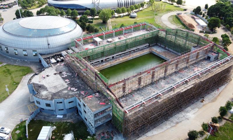 九江游泳中心升级改造工程有序推进(图)