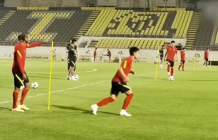 国足在沙特的训练课