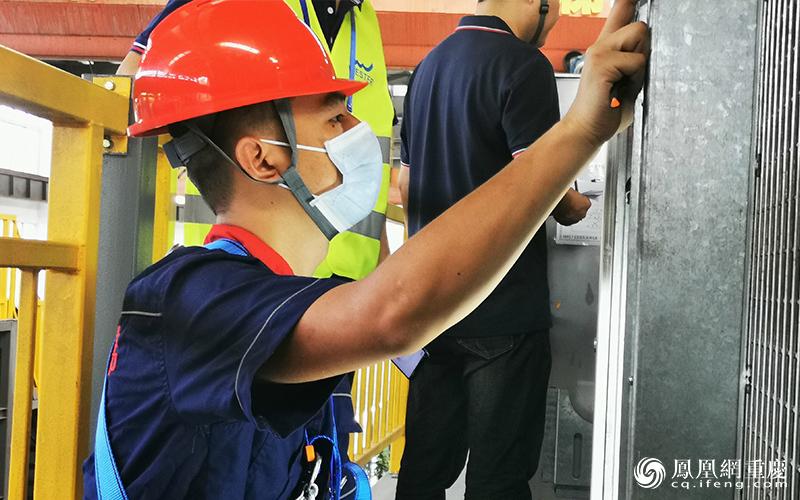 资料图:电梯安装修理技能竞赛现场