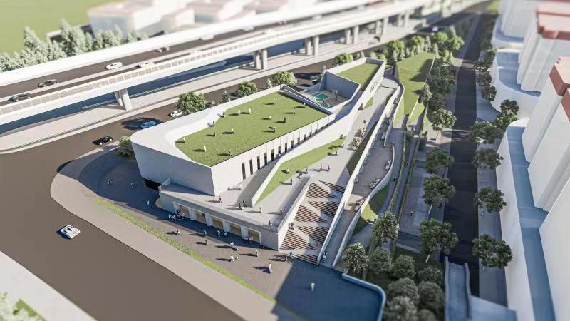 聊城路体育中心及社会公共停车场