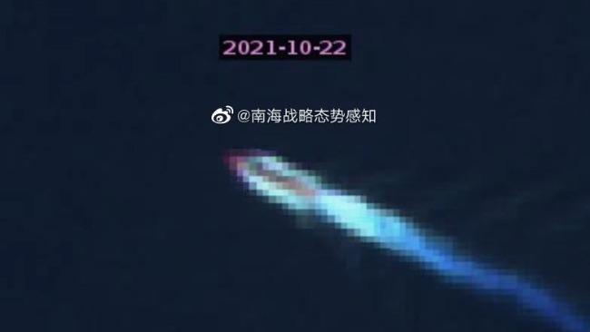 美军上浮核潜艇疑似现身黄岩岛附近