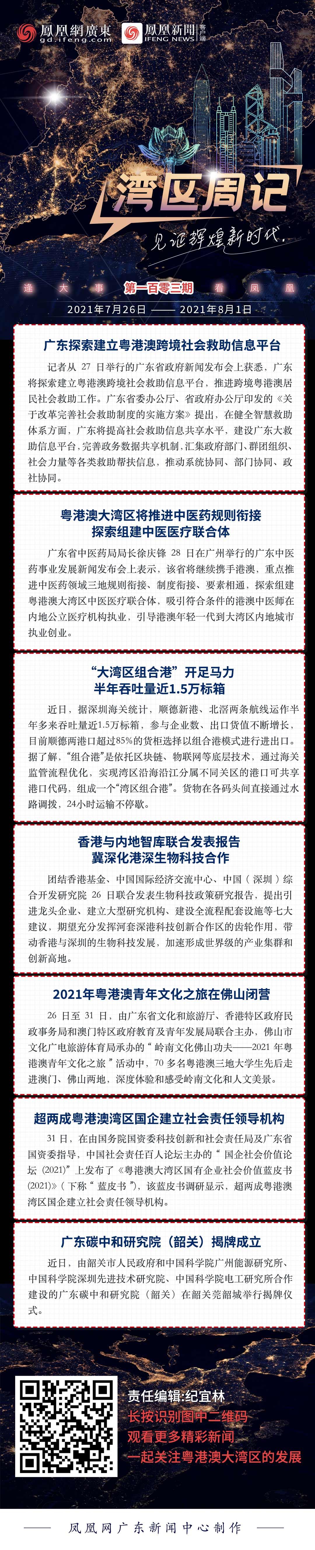 湾区周记No.103丨广东探索建立粤港澳跨境社会救助信息平台