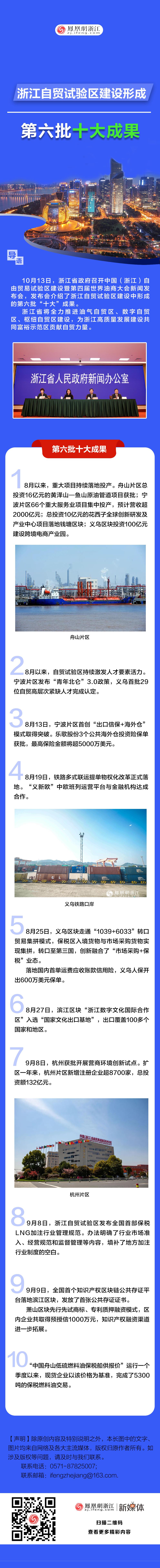 浙江自贸试验区建设形成第六批十大成果